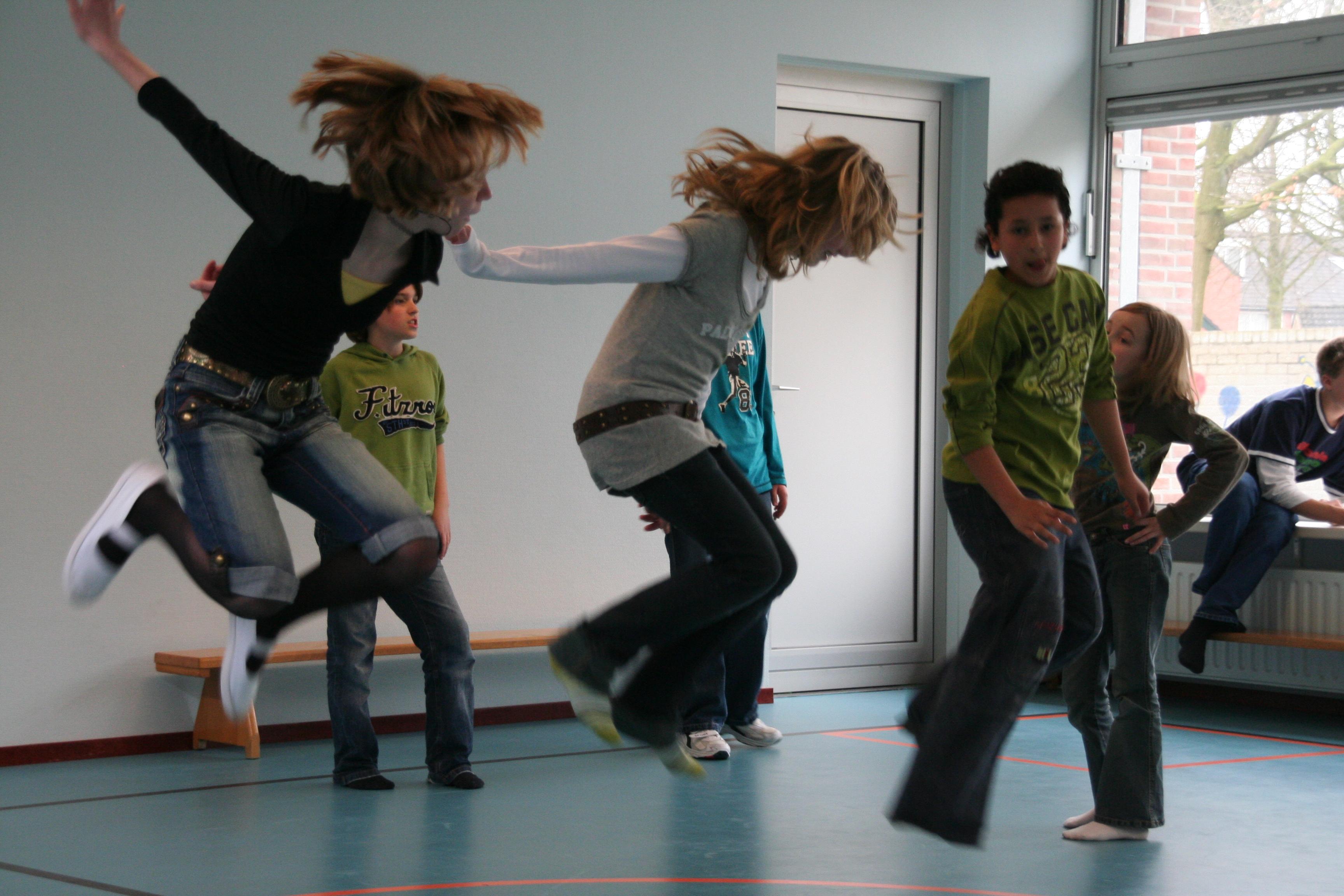eigen choreografie in groepjes 1