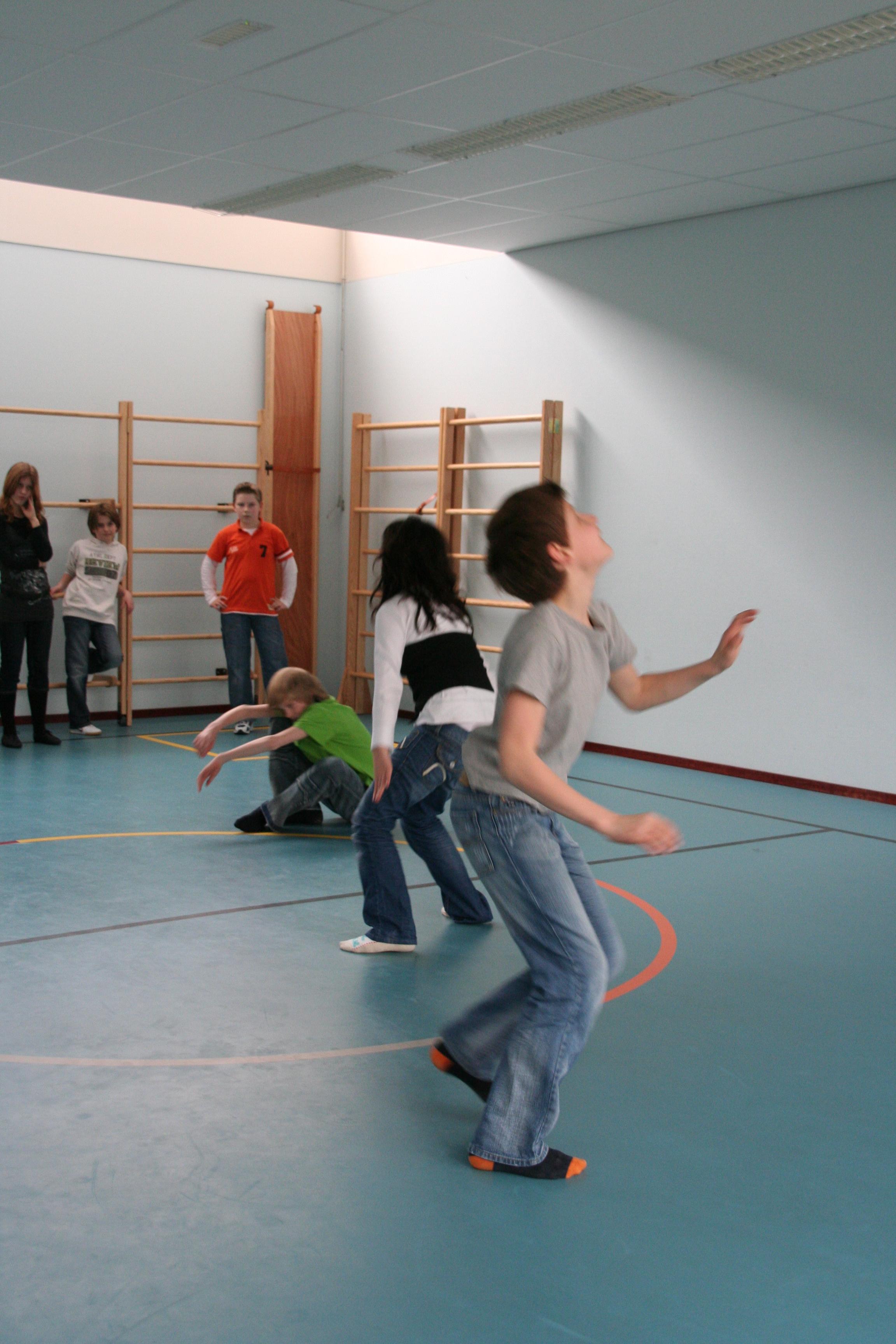eigen choreografie in groepjes 7